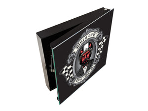 50 Keys Cabinet and Dry Erase Board in ONE K03 The devil of biker