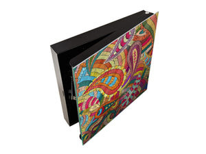 Wall Mount Key Box together K12 Paisley patchwork