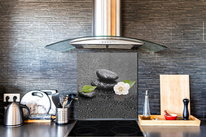 Unique Glass kitchen panel BS02 Stone Series: Stone Drops Of Water