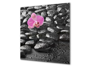 Unique Glass kitchen panel BS02 Stone Series: Orchid Stones