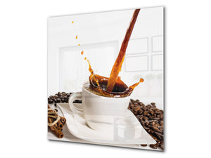Printed Tempered glass wall art BS05A Coffee A Series: Spilled Coffee Beans 3