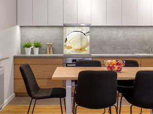 Tempered glass Cooker backsplash BS07 Desserts Series: Ice Cream