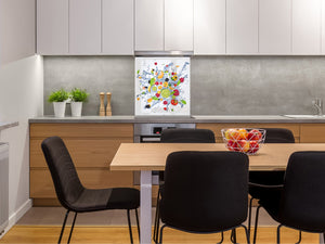 Glass kitchen splashback – Glass upstand BS09 Water splash Series: Fruits In Water