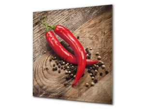 Art design Glass Upstand  BS10 Peppers Series: Paprika Peper 2
