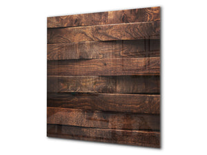 Glass kitchen backsplash –Photo backsplash BS11 Wood and wall textures Series: Wooden Boards 2