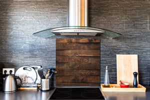 Glass kitchen backsplash –Photo backsplash BS11 Wood and wall textures Series: Wooden Boards 3