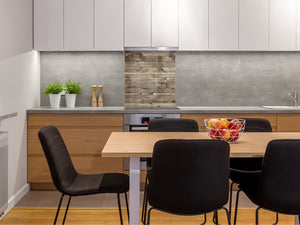 Glass kitchen backsplash –Photo backsplash BS11 Wood and wall textures Series: Wooden Boards 4