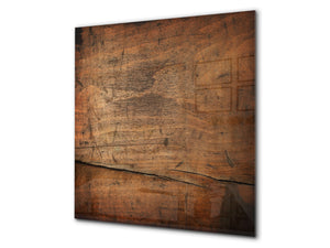 Glass kitchen backsplash –Photo backsplash BS11 Wood and wall textures Series: Wood Tree 2