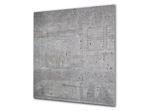 Toughened glass backsplash BS 12 White and grey textures Series: Concrete Texture 2