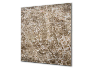 Printed Tempered glass wall art BS13 Various Series: Marble Structure 3