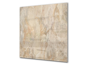 Printed Tempered glass wall art BS13 Various Series: Marble Structure 5