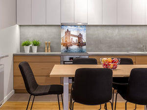 Tempered glass kitchen wall panel BS24 Bridges Series: Tower Bridge 2