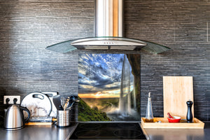 Tempered glass Cooker backsplash BS16 Waterfall landscapes Series: West Waterfall 1