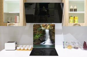 Tempered glass Cooker backsplash BS16 Waterfall landscapes Series: Waterfall Nature 1