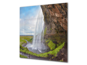 Tempered glass Cooker backsplash BS16 Waterfall landscapes Series: Waterfall Nature 2