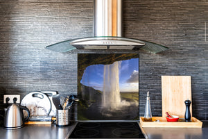 Tempered glass Cooker backsplash BS16 Waterfall landscapes Series: Sky Waterfall
