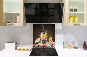 Glass kitchen splashback – Glass upstand BS09 Water splash Series: Fruit Drink  1