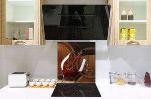 Tempered Glass backsplash – Art design Glass Upstand  BS19 Wine Series: Wine From The Barrel 2