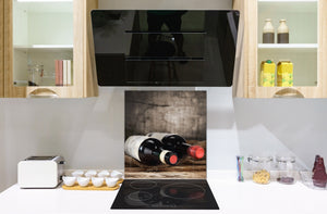 Tempered Glass backsplash – Art design Glass Upstand  BS19 Wine Series: Wine In A Bottle