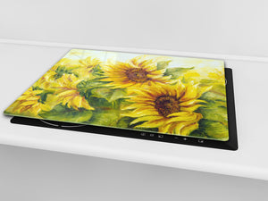 Glass Cutting Board and Worktop Saver D06 Flowers Series: Sunflower 6