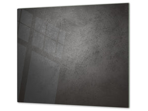 Tempered GLASS Kitchen Board – Impact & Scratch Resistant D10B Textures Series B: Dark Concrete