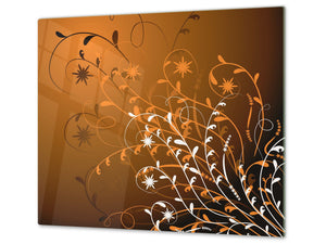 Tempered GLASS Cutting Board D01 Abstract Series: Abstract Art 4