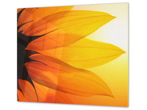 Glass Cutting Board and Worktop Saver D06 Flowers Series: Flower 4