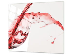Chopping Board - Induction Cooktop Cover D04 Drinks Series: wine 11
