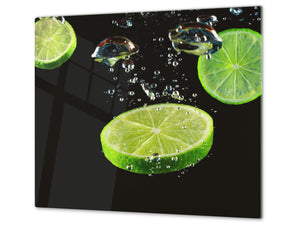 KITCHEN BOARD & Induction Cooktop Cover  D07 Fruits and vegetables: Lime 7