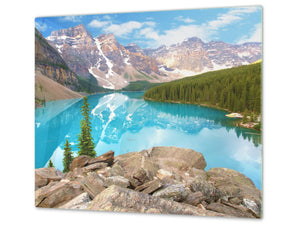 Tempered GLASS Kitchen Board – Impact & Scratch Resistant; D08 Nature Series: Mountains 5