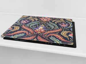 Chopping Board - Induction Cooktop Cover D14 Patterns and Mandalas Series: Texture 162