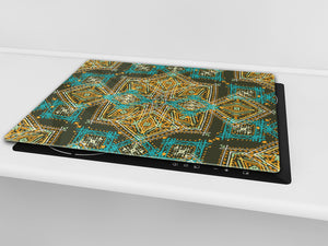 Chopping Board - Induction Cooktop Cover D14 Patterns and Mandalas Series: Texture 184