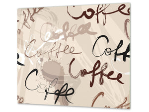 KITCHEN BOARD & Induction Cooktop Cover D05 Coffee Series: Coffee 64