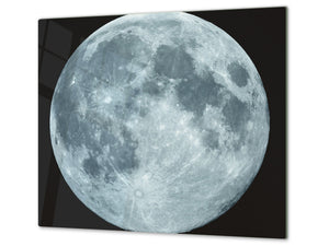 Tempered GLASS Kitchen Board D09 Other: Full Moon