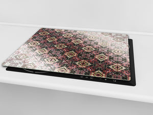 Tempered GLASS Cutting Board D01 Abstract Series: stained glass 2