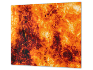 Tempered Glass Cutting Board and Worktop Saver D03 Fire Series: Fire 9