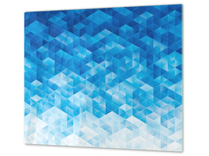 Tempered GLASS Cutting Board D01 Abstract Series: Texture 68