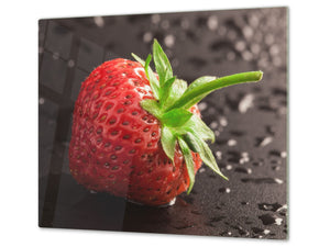 KITCHEN BOARD & Induction Cooktop Cover  D07 Fruits and vegetables: Strawberry 19