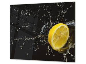 KITCHEN BOARD & Induction Cooktop Cover  D07 Fruits and vegetables: Lemon 10
