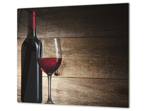 Chopping Board - Induction Cooktop Cover D04 Drinks Series: wine 12