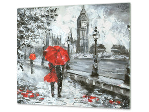 Worktop saver and Pastry Board D13 Images: Big Ben red umbrella