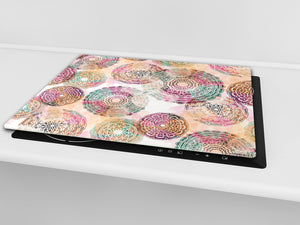 Chopping Board - Induction Cooktop Cover D14 Patterns and Mandalas Series: Drawing 77