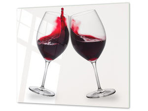 Chopping Board - Induction Cooktop Cover D04 Drinks Series: wine 2