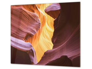 Tempered GLASS Cutting Board D01 Abstract Series: Rock