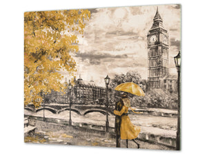Worktop saver and Pastry Board D13 Images: Big Ben yellow umbrella