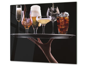 Chopping Board - Induction Cooktop Cover D04 Drinks Series: Wine 18