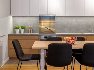 Glass kitchen backsplash – Photo backsplash BS20 Seawater Series: West Beach Sea