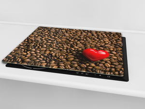 KITCHEN BOARD & Induction Cooktop Cover D05 Coffee Series: Coffee 137