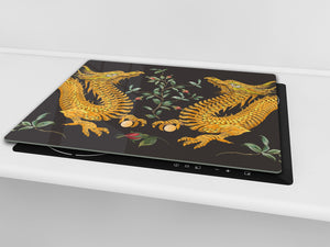 Worktop saver and Pastry Board D13 Images: Yellow dragons