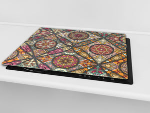 Chopping Board - Induction Cooktop Cover D14 Patterns and Mandalas Series: Tiles 5